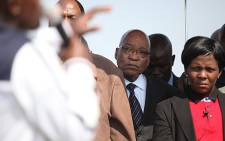President Jacob Zuma visited Marikana residents, almost a week after the deadly shooting. Picture: Taurai Maduna/EWN.