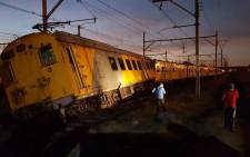 A Metrorail train derailed between Heideveld and Netreg stations on 17 January 2018. Picture: Supplied