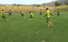 Bafana Bafana training session underway at a blazing hot Benguela. The first session of the day. PIcture: Bafana Bafana @BafanaBafana.