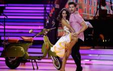 Singer-songwriter Connell Cruise and Marcella Solimeo get to grips with their dance routine a round of the Dancing With The Stars 2018 competition. Picture: Louise McAuliffe/EWN