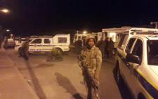FILE: Police, metro police and the army have already arrested five suspects for drug possession in Grassy Park during crime prevention raids. Picture: Xolani Koyana/EWN