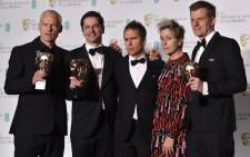 FILE: The cast and crew of 'Three Billboards Outside Ebbing, Missouri' at the British Academy Film Awards (Baftas) at the Royal Albert Hall in London on 18 February, 2018. Picture: AFP.