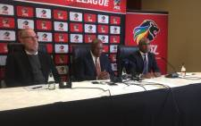 PSL chairman Dr Irvin Khoza (centre) confirmed the 2018/19 PSL season will start as planned on 3 August 2018. Picture:  Philasande Sixaba/EWN.