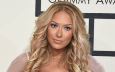 Kaya Jones at the Grammy awards in Los Angeles in February 2016. Picture: AFP.