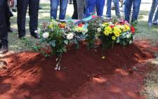 Ahmed Kathrada's final resting place at the Westpark Cemetery. Picture: Christa Eybers/EWN.