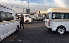 Taxi operations at the Germiston taxi rank continued as normal on Tuesday morning as taxi association Santaco planned a march to the office of Ekurhuleni Mayor Mzwandile Masina. Picture: Ihsaan Haffejee/EWN.