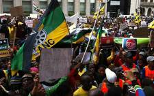 ANCYL members march to the Western Cape legislature on 27 July 2012. Picture: Nathan Adams/EWN
