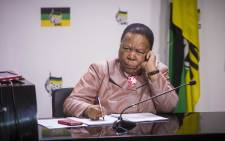 Minister of Science and Technology Naledi Pandor briefs the media on discussions from the ANC NPC on 10 July 2017. Picture: Thomas Holder/EWN