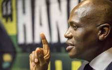FILE: Hlaudi Motsoeneng addresses musicians and members of the media at the Milpark Garden Court on his disciplinary process. Picture: Thomas Holder/EWN