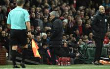 Manchester United's Portuguese manager Jose Mourinho leaves the touchline after referee Jonathan Moss sent him to the stands during the English Premier League football match between Manchester United and West Ham United at Old Trafford in Manchester, north west England, on 27 November, 2016. Picture: AFP.