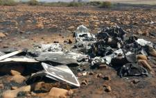 The wreckage of a light aircraft after it crashed in Mpumalanga. Picture: SAPS/Twitter.