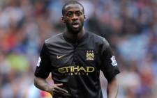 Manchester City's midfielder Yaya Toure during the English Premier League football match against Aston Villa on September 28, 2013. Picture: AFP