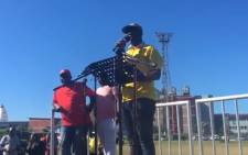 A video screengrab of the lower South Coast ANC region's Howard Msomi.