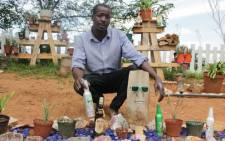 Nditsheni Mulea with his plant business in Linksfield. Picture: Sebabatso Mosamo/EWN.