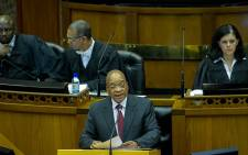 'I have answered that question': President Jacob Zuma answers questions in the National Assembly on Thursday 6 August 2015. Picture: GCIS