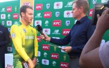 South Africa middle-order batsman David Miller during the post-match interview following his powerful performance against Bangladesh in Twenty20 International cricket on 29 October 2017. Picture: CSA Facebook page.
