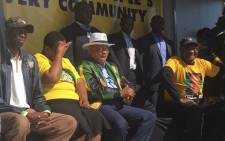 President Jacob Zuma campaigning in the capital city with mayoral candidate Thoko Didiza, and African National Congress (ANC) regional leaders. Picture: Clement Manyathela /EWN.