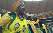 Thousands of ANC supporters made their way into the FNB Stadium in Soweto for the launch of the party's Gauteng manifesto. Picture: Reinart Toerien/EWN.