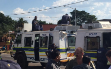 FILE: Strong police presence around the Laudium SA Police Service station on 15 March 2015. Picture: Yusuf Abramjee/EWN.