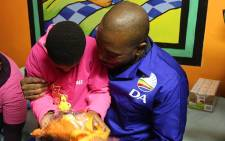 DA leader Mmusi Maimane celebrated Mandela Day by visiting Tumelo Home for the Mentally Handicapped in Ivory Park.  Picture: Christa Eybers/EWN
