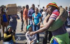 Residents from Alex protest over housing delivery. Picture: Thomas Holder/EWN