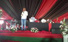 Economic Freedom Fighters leader Julius Malema addressing people at a Christmas celebration in Seshego. Picture: @EFFSouthAfrica/Twitter