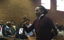 FILE: Kwaito star Sipho Ndlovu, also known as 'Brickz', in the Roodepoort Magistrates Court.  Picture: Kgomotso Modise/EWN.