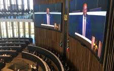MMC for Finance Funzela Ngobeni delivering the City of Johannesburg's budget for the 2018/2019 financial year. Picture: Gia Nicolaides/EWN.