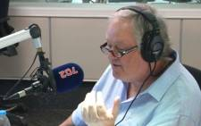 'The President's Keepers' author Jacques Pauw in studio with Talk Radio 702 host Eusebius McKaiser. Picture: 702