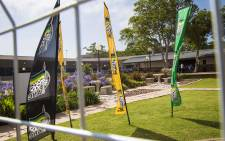 ANC banners fly high at Nasrec as delegates make their way to the plenary. Picture: Thomas Holder/EWN.