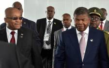 President Jacob Zuma with President João Lourenço of Angola and Zambian President Edgar Lungu at SADC Troika Summit held in Luanda, Angola. Picture: Twitter/ @GovernmentZA
