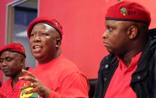 FILE. The Economic Freedom Fighters leader Julius Malema at the party's press conference in Braamfontein on 17 September 2015. Picture: Reinart Toerien/EWN