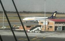 The Gupta jet, spotted at OR Tambo International Airport, on 3 May 2013. Picture: Nick Hanley/iWitness