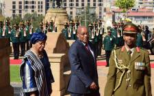 President Jacob Zuma receives President Ellen Johnson Sirleaf of Liberia for a state visit to South Africa. Picture: GCIS.