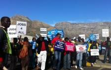 A group of young people took part in a march against unemployment in Cape Town on 7 July 2011. Picture: EWN