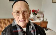 This file photo taken on 22 January 2016 shows Yisrael Kristal sitting in his home in the Israeli city of Haifa. Picture: AFP.