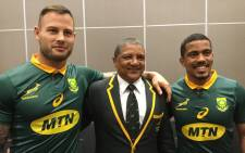 Francois Hougaard, Allister Coetzee and Rudy Paige. Picture: @Springboks