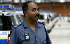 File photo: Former Gauteng Police Commissioner Perumal Naidoo seen inspecting some of the 250 vehicles allocated to the flying squad, dog and crime combating units in 2007. Picture: Werner Beukes/Sapa.