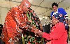 President Jacob Zuma hands over Christmas gifts and food parcels during the annual Christmas Party celebration for senior citizens in Durban 24 December, 2017. Picture: @PresidencyZA/Twitter