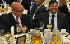 FILE: President Jacob Zuma and Atul Gupta at an event. Picture: GCIS