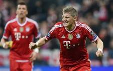 Bayern Munich's Bastian Schweinsteiger celebrates his goal against Arsenal during the second leg of the Champions' League on 11 March 2014. Picture: Facebook.