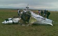 File picture: The wreck of plane crash. Picture: JP du Plessis/Eyewitness News.