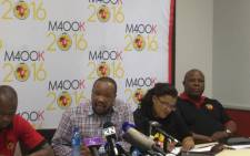 Numsa's Irvin Jim at the press briefing about the union's expulsion from Cosatu, on 9 November 2014. Picture: Reinart Toerien/EWN.