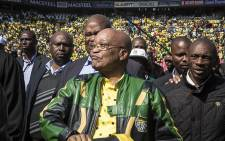FILE: President Jacob Zuma arrives at an ANC rally. Picture: Reinart Toerien/EWN