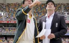 Australian captain Ricky Ponting tosses the coin as England captain Andrew Strauss looks on at the start of the 2010 Ashes. Picture: AFP