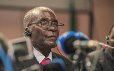 FILE: Former Zimbabwean President Robert Mugabe gives his closing statements at the end of the 25th AU summit held in Sandton, Johannesburg. Picture: AFP.