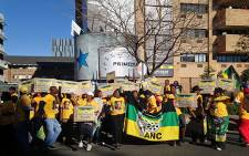 The ANC pickets outside Primedia Broadcasting's offices in Sandton on 30 May 2014. Picture: Craig Wynn/EWN.