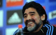 Diego Maradona launched a blistering attack on FIFA president Sepp Blatter on Monday saying that world soccer's governing body had descended into anarchy with the 79-year-old Swiss in charge. Picture: Facebook.