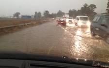 Heavy rains in Midrand on Thursday 6 September 2012. Picture: iWitness