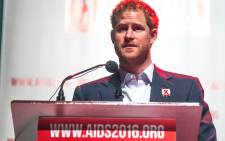 Prince Harry speaks at the 21st International Aids Conference in Durban. Picture: Kgothatso Mogale/EWN.